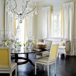 Yellow Gray Dining Room French Den Library Office Melanie Turner