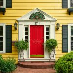 Yellow House Red Door Beauteous Best Houses Ideas